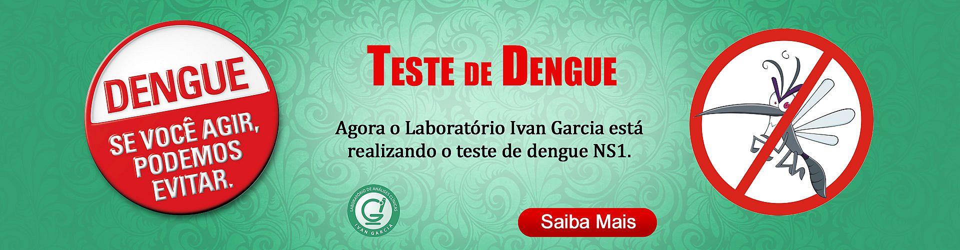 Teste de Dengue NS1 no Laboratório Ivan Garcia