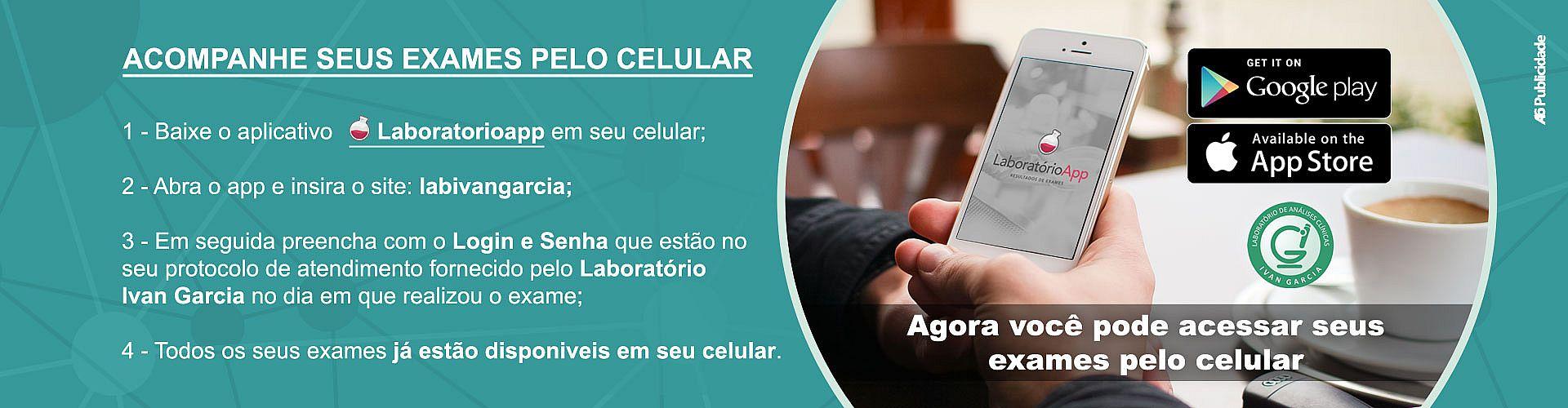 Aplicativo Laboratorio App, veja seus exames no celular
